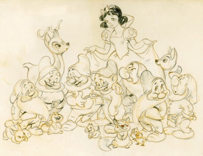 Snow White Moore drawing