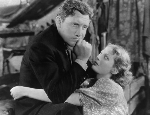Spencer Tracy and Loretta Young in Frank BorzageÕs MANÕS CASTLE